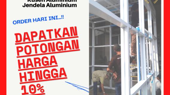 Harga Pintu Geser Aluminium Minimalis Simple dan Slim